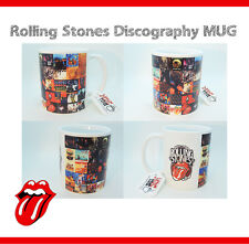 Rolling Stones Discography Mug - Gift Cup - Mick Jagger Keith Richards Guitar