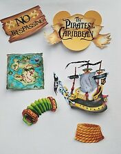 Disney's pirates of the Caribbean   printed scrapbook page die cut  set #7