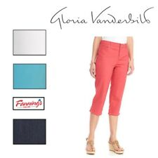 "*NEW!* Gloria Vanderbilt Women's "" Jordyn "" Capri Pants' VARIETY Size and Color"