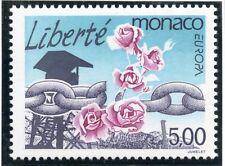 TIMBRE DE MONACO N° 1988 ** LIBERTE / CHAINES BRISEES ET ROSES