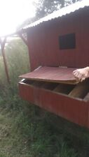 Large wooden Chicken coop.large run. Fenced in.