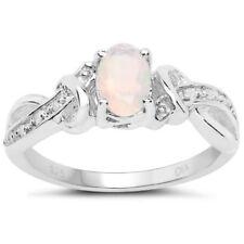 Anelli di lusso in argento sterling fidanzamento pietra principale opale