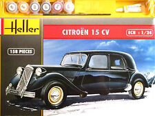 Heller 1:24 Citroen 15 Cv Car Kit Modelo Conjunto de Regalo