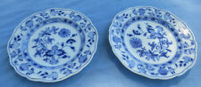 TWO MEISSEN SMALL DESSERT BLUE ONION PLATE