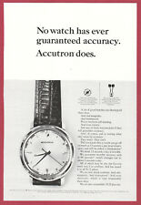 1964 Watch Advertisement ~ BULOVA ACCUTRON ~Model 214~ issued to all X-15 pilots