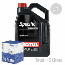 Engine Oil and Filter Service Kit 5 LITRES Motul VW SPECIFIC 504 00-507 0 5L