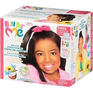 [SOFT & BEAUTIFUL] JUST FOR ME NO-LYE CONDITIONING CREME RELAXER KIT SUPER
