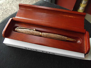 """Hand Crafted """"Black Palm Wood Re-fillable Cross Pen"""" w/  display box"""