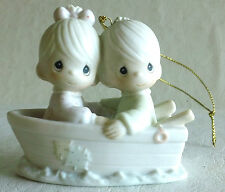 1990 Precious Moments #522937 Porcelain Ornament, Friends Never Drift Apart