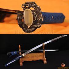 "1060 High Carbon Steel Sword Japanese Samurai Snake&Dragon Katana Very Sharp 41"""