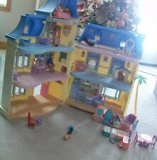 Loving Family Sweet Sounds Talking Townhouse Dollhouse Complete People Furniture