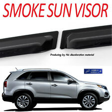 Smoke Rain Window Visor Vent 4p 1Set For 2010 2014 Kia Sorento