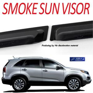 Smoke Rain Window Visor Vent 4p 1Set For 2010 2014 Kia Sorento