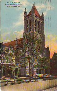 1914  Wilkes Barre - First M.E. Church on North Franklin Street