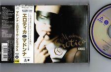 "MADONNA Erotica Remixes JAPAN 7-track 5"" CD SINGLE WPCP-5150 w/OBI Free S&H/P&P"
