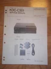 Kenwood Service Manual~KDC-C301 CD Changer/Player~Car Audio~Original Repair