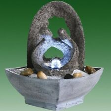 Romantic Couple with Grey Arch Lit Indoor Tabletop Water Feature