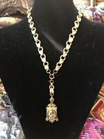 Victorian Locket Necklace W&S.B signed Gold filled
