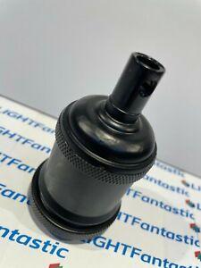 Black Vintage Style Edison ES Screw E27 light bulb holder fitting