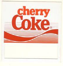 "Cherry Coke Vending Machine Insert, Push Button Style, 3 1/2"" x 3 1/2"""
