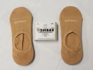 Bombas Women's Lightweight No Shows 4-Pack SG8 Beige Large NWT