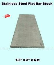 Stainless Steel Flat Bar Stock 18 X 2 X 6 Ft Rectangular 304 Mill Finish