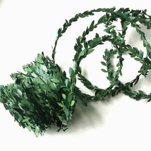 7.5M Garland Green Leaf Wire Vine Rattan Artificial Wreath-Gift Flower F T3X8
