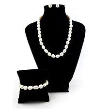 Completo collana bracciale orecchini perle naturali coltivate 10mm Desja Jewelry