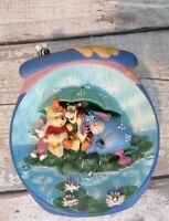 Disney Wall Plate Plaque Bradford Exchange Pooh's Hunnypot Adventure First Issue