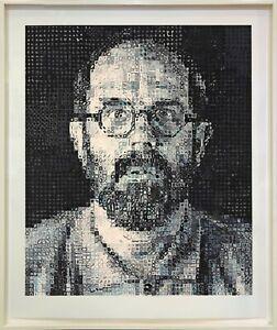 "CHUCK CLOSE ""SELF PORTRAIT"" 1995   HUGE SIGNED SCREENPRINT   64X54""   GALLART"