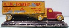O.I.M Transit Corp. Advertising Slush Lead Truck & Trailer Good Condition