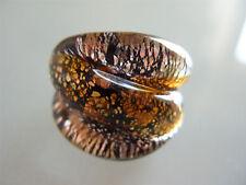 Original Muranoglas Ring Schmuck Murano vetro Glas Bague Anillo Anello Ring Ø18