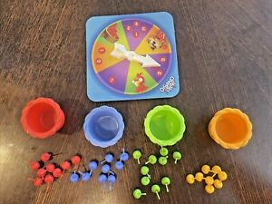 Hi Ho Cherry O Replacement Fruit 36 cherries - red, blue, green, yellow, spinner
