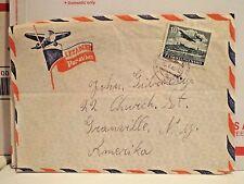 Cover - Ceskoslovensko Air Mail  1949