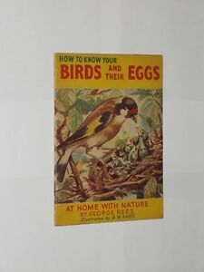 George Rees How To Know Your Birds And Their Eggs. Vintage Softback Booklet.