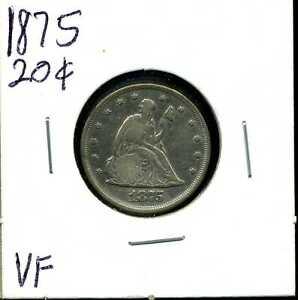 1875 20C Twenty Cent Piece in VF Condition #03883