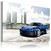 FERRARI 360 BLUE Super Sport Car Large Wall Canvas Picture ART  AU421 X MATAGA