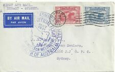More details for  australia 1931 first official air mail flight hobart to sydney