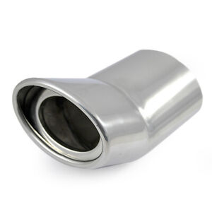 Universal Car Exhaust Tip Trim Pipe Tail Sport Muffler Chrome Stainless Steel