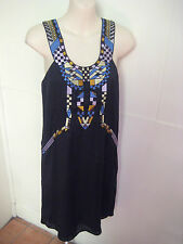 BLESSED ARE THE MEEK Designer Beaded & Embroidered Racer Back Dress Sz 8 As New