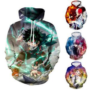 My Hero Academia Izuku Midoriya Todoroki Shoto 3D Hoodie Pullover Sweatshirt
