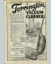 1922 PAPER AD Torrington Electric Upright Vacuum Cleaner