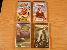 PSP Lot 4 Games Over THE Hedge Napoleon Dynamite ERAGON World Champion Poker 2