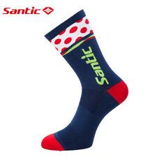 Santic Men Bike Cycling Socks Antiseptic Running Sports Socks Elastic Free Size