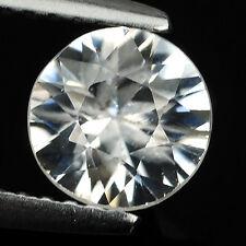 1.42 CT UNHEATED RARE ROUND DIAMOND CUT NATURAL WHITE ZIRCON LOOSE GEMSTONES