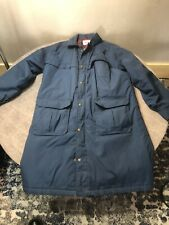 Vintage WOOLRICH Long Wool Lined Parka Jacket Coat MEDIUM Blue (Bn197)