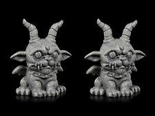 Gárgola Figuras - Loco Demonio 2er Set - Gothic Demonio Dragón Dekostatue