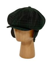Ralph Lauren RRL Tartan Plaid Wool Newsboy Hunting Hat Cap S New