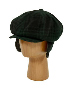 Ralph Lauren RRL Vintage Tartan Plaid Wool Newsboy Hunting Hat Cap S New