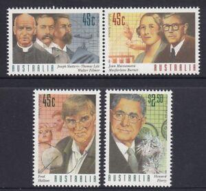 Australia 1995 MEDICAL SCIENTISTS Set of 4 MNH @ PO Price  $3.85